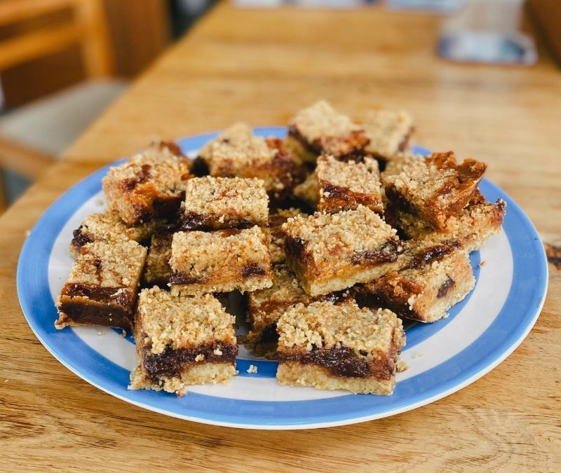 Crumbled Salted Caramel and Chocolate Millionaire Shortbread